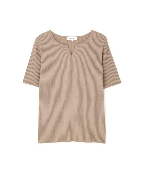 NATURAL BEAUTY BASIC / ナチュラルビューティーベーシック ニット・セーター | [洗える]キーネックリブニット | 詳細6