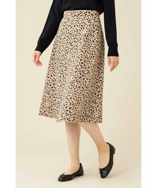 NATURAL BEAUTY BASIC / ナチュラルビューティーベーシック スカート | [洗える]2WAYリバーシブルアニマルプリントスカート◆ | 詳細2