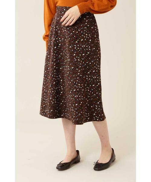 NATURAL BEAUTY BASIC / ナチュラルビューティーベーシック スカート | [洗える]2WAYリバーシブルアニマルプリントスカート◆ | 詳細16