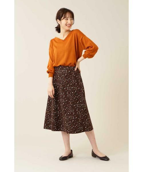 NATURAL BEAUTY BASIC / ナチュラルビューティーベーシック スカート | [洗える]2WAYリバーシブルアニマルプリントスカート◆ | 詳細18