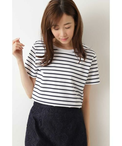 NATURAL BEAUTY BASIC / ナチュラルビューティーベーシック Tシャツ | |with CanCam 6月号掲載|ベーシックボーダーT◆ | 詳細7