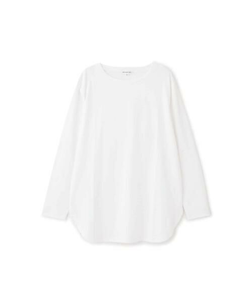 NATURAL BEAUTY BASIC / ナチュラルビューティーベーシック Tシャツ | |steady. 11月号掲載|ラウンドヘムロンT | 詳細1