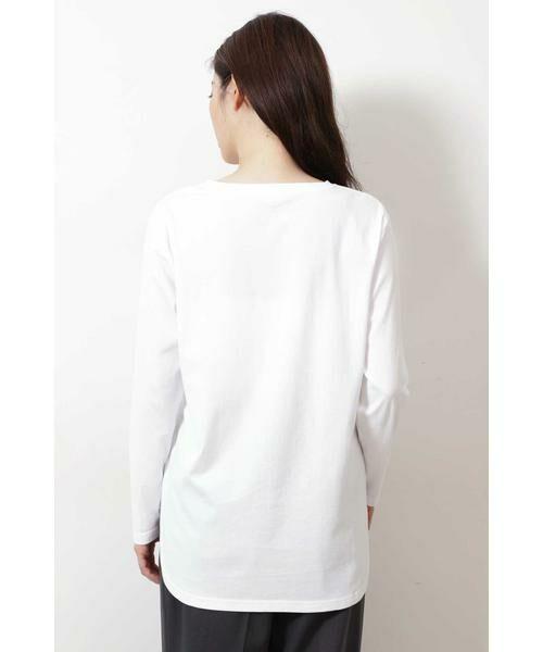 NATURAL BEAUTY BASIC / ナチュラルビューティーベーシック Tシャツ | |steady. 11月号掲載|ラウンドヘムロンT | 詳細5
