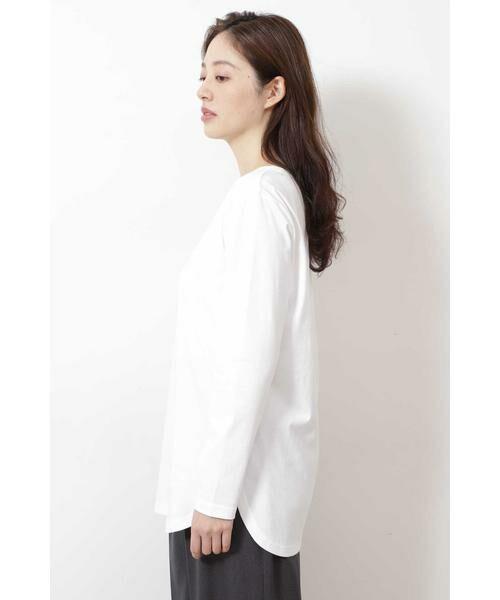 NATURAL BEAUTY BASIC / ナチュラルビューティーベーシック Tシャツ | |steady. 11月号掲載|ラウンドヘムロンT | 詳細6