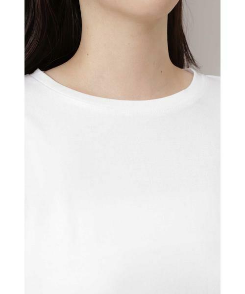 NATURAL BEAUTY BASIC / ナチュラルビューティーベーシック Tシャツ | |steady. 11月号掲載|ラウンドヘムロンT | 詳細7