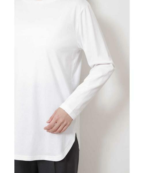 NATURAL BEAUTY BASIC / ナチュラルビューティーベーシック Tシャツ | |steady. 11月号掲載|ラウンドヘムロンT | 詳細8
