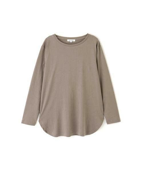 NATURAL BEAUTY BASIC / ナチュラルビューティーベーシック Tシャツ | |steady. 11月号掲載|ラウンドヘムロンT | 詳細15
