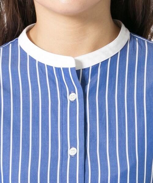 23区 / ニジュウサンク シャツ・ブラウス | Cancliniシャーティング ストライプノーカラーシャツ | 詳細13