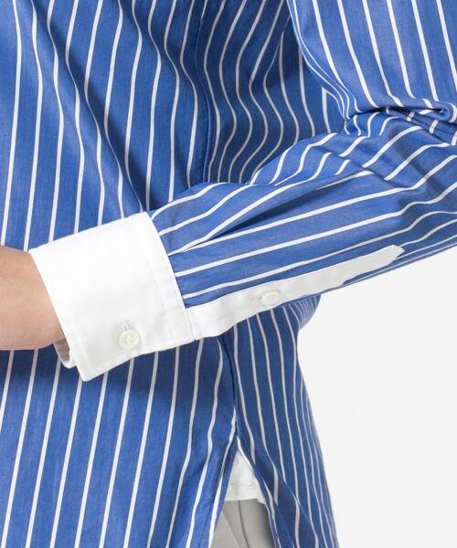 23区 / ニジュウサンク シャツ・ブラウス | Cancliniシャーティング ストライプノーカラーシャツ | 詳細14