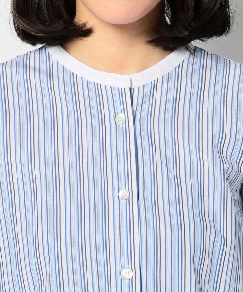 23区 / ニジュウサンク シャツ・ブラウス | Cancliniシャーティング ストライプノーカラーシャツ | 詳細17