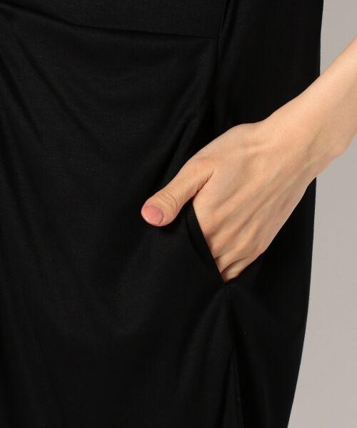 23区 / ニジュウサンク ミニ丈・ひざ丈ワンピース | 【洗える!】ドレープドライジャージー シャツワンピース | 詳細9