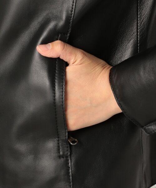 23区 / ニジュウサンク ノーカラージャケット | 【25周年アイテム】シープレザージャケット | 詳細12