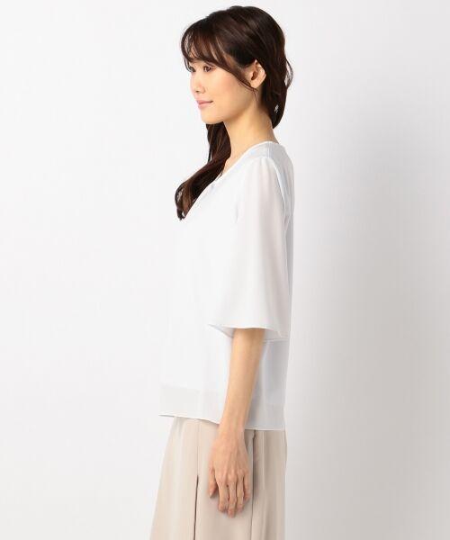 23区 / ニジュウサンク Tシャツ | 【洗える】シルキーストレッチツイル カットソー | 詳細3