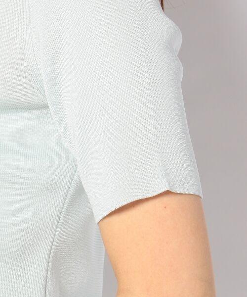 23区 / ニジュウサンク ニット・セーター | 【WEB限定カラーあり】シンセティックファイバー 半袖ニット | 詳細3