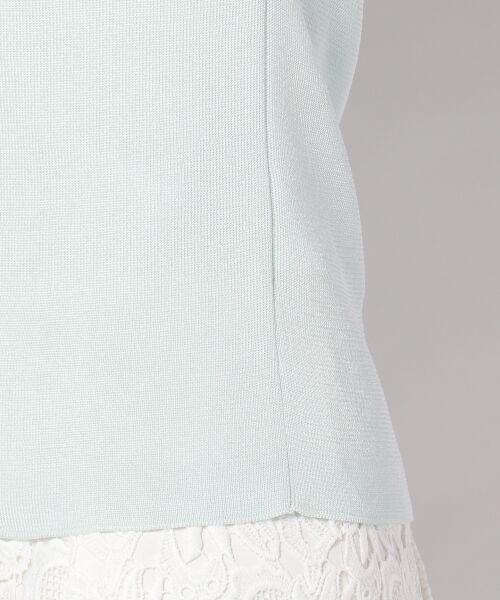 23区 / ニジュウサンク ニット・セーター | 【WEB限定カラーあり】シンセティックファイバー 半袖ニット | 詳細9