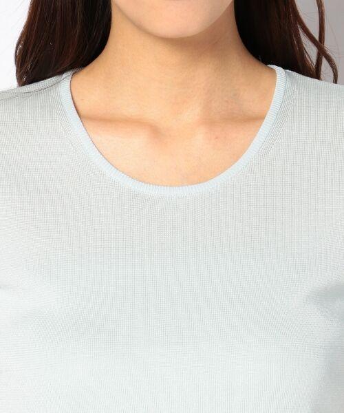 23区 / ニジュウサンク ニット・セーター | 【WEB限定カラーあり】シンセティックファイバー 半袖ニット | 詳細8