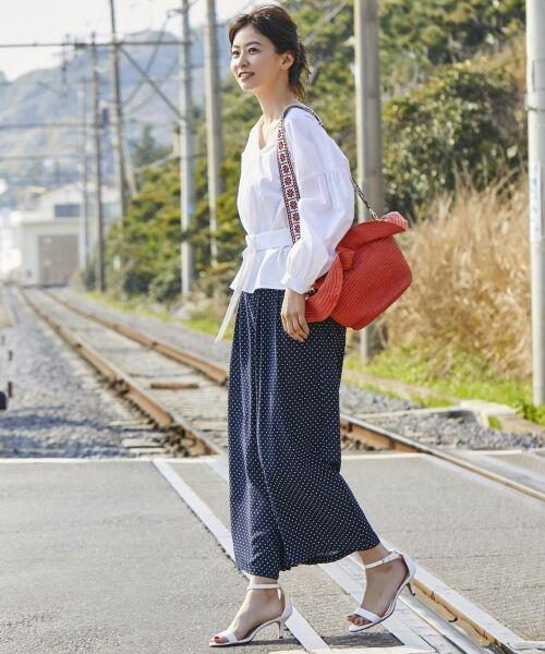 23区 / ニジュウサンク その他パンツ   【洗える】POLKA DOT PRINT パンツ   詳細3