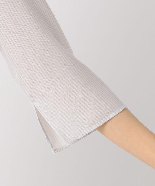 23区 / ニジュウサンク トップス | 【洗える】Fine Stripe プリント ブラウス | 詳細11