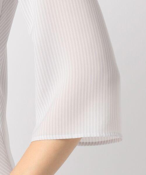 23区 / ニジュウサンク トップス | 【洗える】Fine Stripe プリント ブラウス | 詳細4