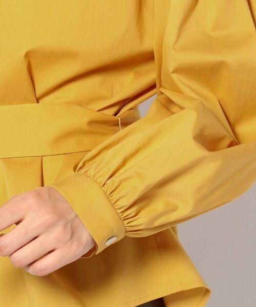 23区 / ニジュウサンク トップス | 【洗える】バックサテン タイプライター ブラウス | 詳細14