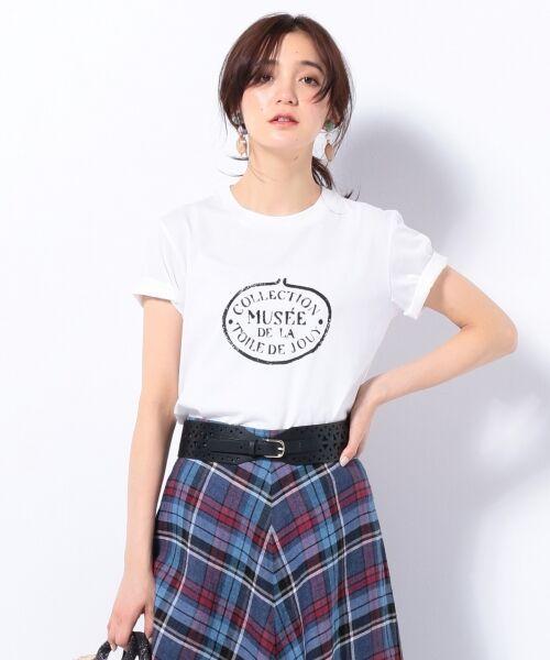 23区 / ニジュウサンク Tシャツ | 【洗える】TOILE de JOUY PRINT カットソー(ホワイト系)