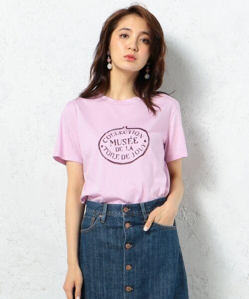23区 / ニジュウサンク Tシャツ | 【洗える】TOILE de JOUY PRINT カットソー(ピンク系)