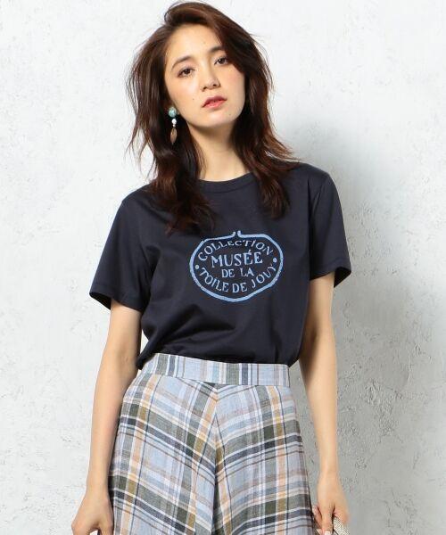 23区 / ニジュウサンク Tシャツ | 【洗える】TOILE de JOUY PRINT カットソー(ネイビー系)