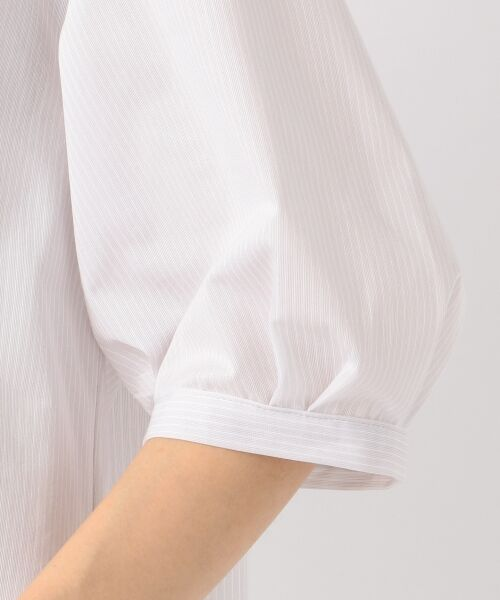 23区 / ニジュウサンク Tシャツ | 【洗える】トリコットストライプ ボリュームスリーブ カットソー | 詳細11