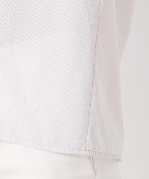 23区 / ニジュウサンク Tシャツ | 【洗える】トリコットストライプ ボリュームスリーブ カットソー | 詳細12