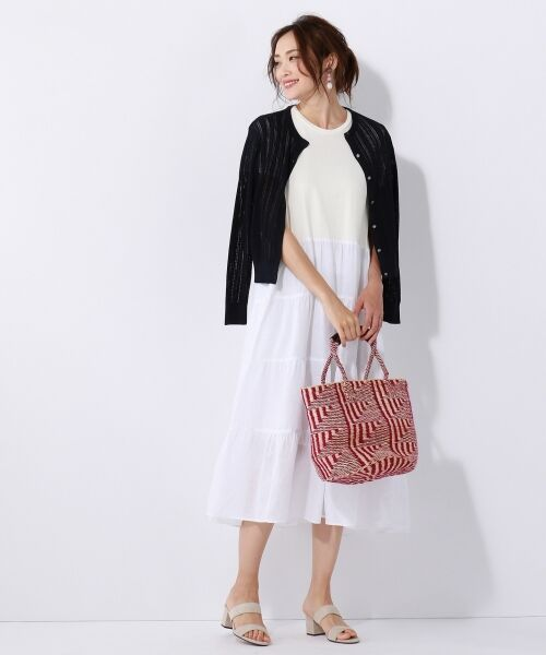 27f73471de2bc セール ☆ 2018夏の一部店舗限定 LIBECO LINEN ワンピース (ミニ丈 ...