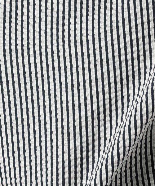 23区 / ニジュウサンク Tシャツ | 【シワになりにくい】シアサッカーストライプ リボン付 カットソー | 詳細9