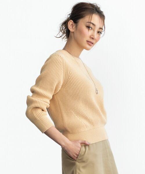 23区 / ニジュウサンク ニット・セーター | 【洗える】コットンブレンドコード ニット(ピンク系)