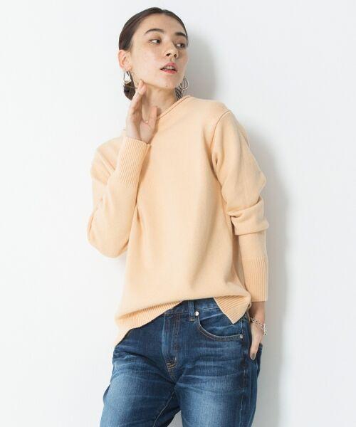 23区 / ニジュウサンク ニット・セーター | 【洗える】コットンブレンドコード チュニック ニット(ピンク系)