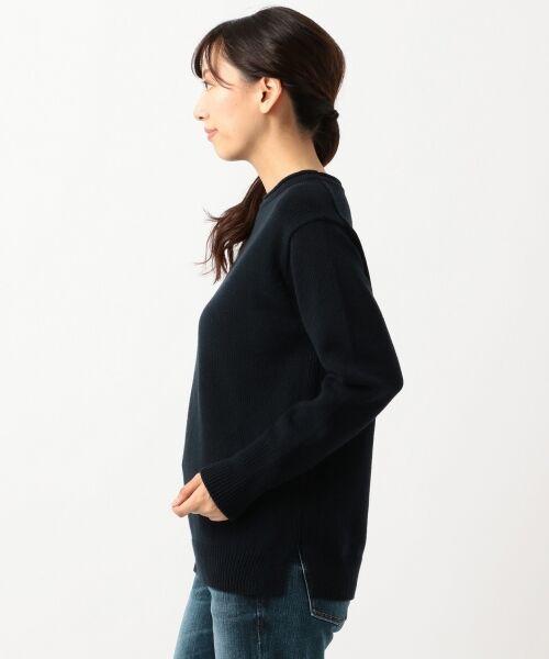 23区 / ニジュウサンク ニット・セーター | 【洗える】コットンブレンドコード チュニック ニット | 詳細7
