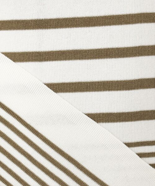 23区 / ニジュウサンク ニット・セーター | 【マガジン掲載】ドライコットン ランダムボーダークルーネックニット | 詳細1