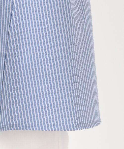 23区 / ニジュウサンク Tシャツ | 【洗える/しわになりにくい】シアサッカー ストライプ ギャザー カットソー | 詳細14