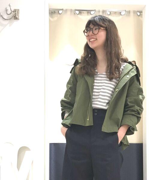 NIMES / ニーム その他アウター | グログラン フードブルゾン(カーキ)