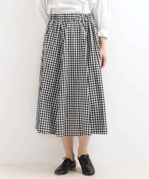 NIMES / ニーム ロング・マキシ丈スカート | アソートパターン ギャザースカート(ブラック)