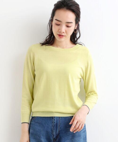 NIMES / ニーム ニット・セーター | 16G天竺 肩釦プルオーバー(レモン)