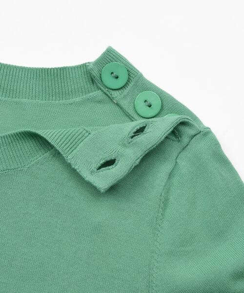 NIMES / ニーム ニット・セーター | 16G天竺 肩釦プルオーバー | 詳細6