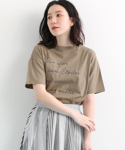 NIMES / ニーム Tシャツ | 32コットン プリントTシャツ(モカ)