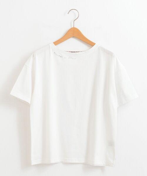 NIMES / ニーム Tシャツ | 32コットン 刺繍Tシャツ(オフ)