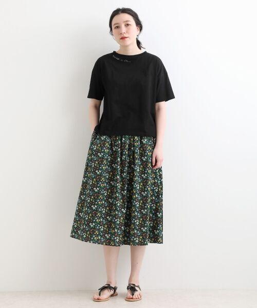 NIMES / ニーム ミニ・ひざ丈スカート | LIBERTY Assort ギャザースカート | 詳細1