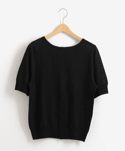 NIMES / ニーム ニット・セーター | 麻/コットン 2way P/O(ブラック)