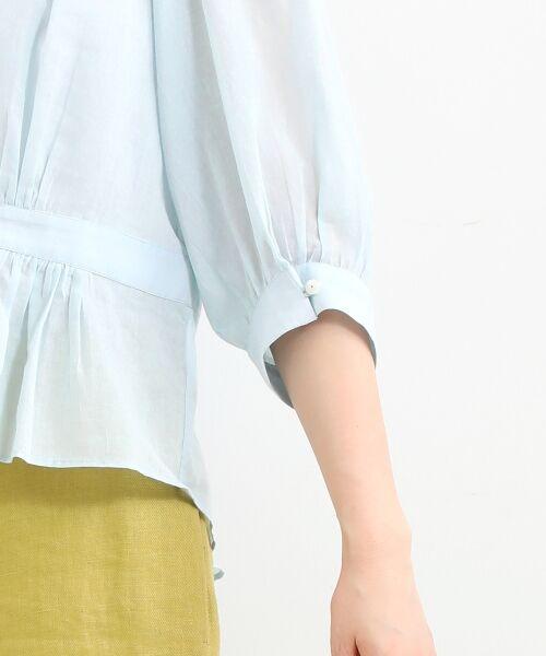 NIMES / ニーム シャツ・ブラウス | Voileラッフル衿BL | 詳細5