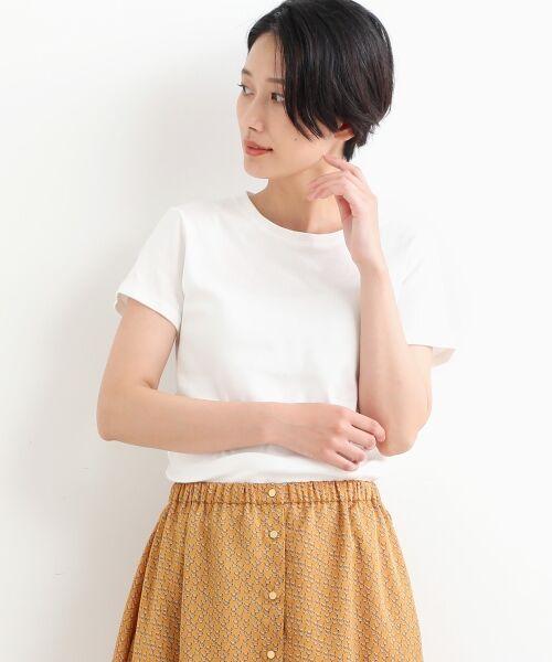 NIMES / ニーム Tシャツ | コーマフライス裾テール半袖Tee(オフ)