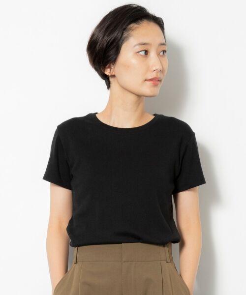 NIMES / ニーム Tシャツ | コーマフライス裾テール半袖Tee(ブラック)