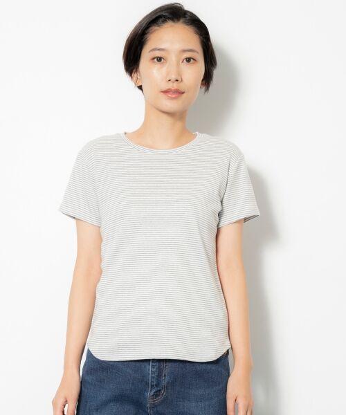 NIMES / ニーム Tシャツ | コーマフライス裾テール半袖Tee(MIX1)