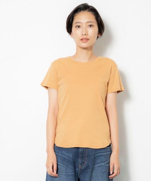 NIMES / ニーム Tシャツ | コーマフライス裾テール半袖Tee(キャメル)