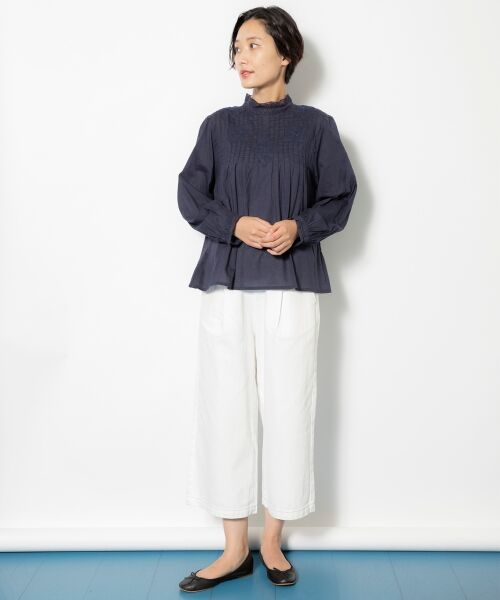 NIMES / ニーム シャツ・ブラウス | Fabrique en Inde 刺繍ブラウス | 詳細12